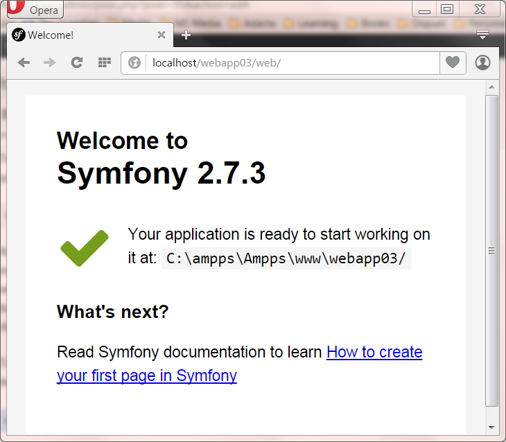 How to create a symfony (2 or 3) project in windows