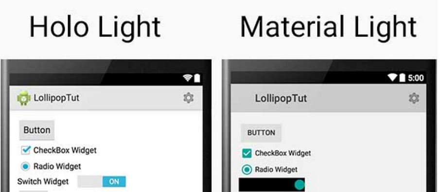 How to enable material native theme on android within a cordova application