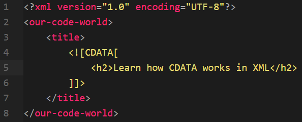 What does <![CDATA[]]> node in a XML document