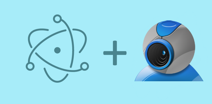 How to use the camera with Electron Framework (create a snapshot) and save the image on the system