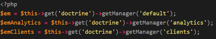 How to use more than one database using doctrine orm in