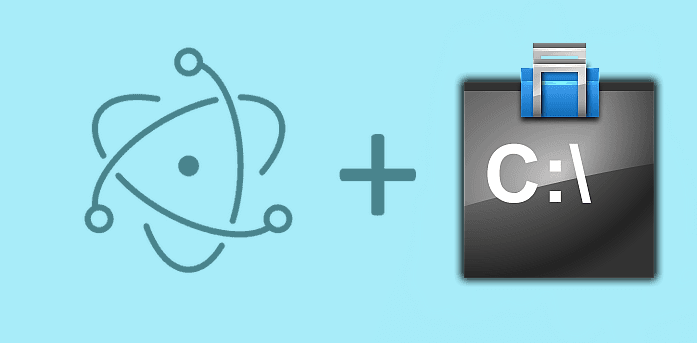 How to execute a .bat file, receive data and errors with Electron Framework