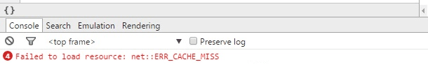 err_cache_miss in webview android