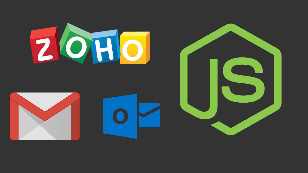 How to send an email (gmail, outlook and Zoho) using nodemailer in Node.js