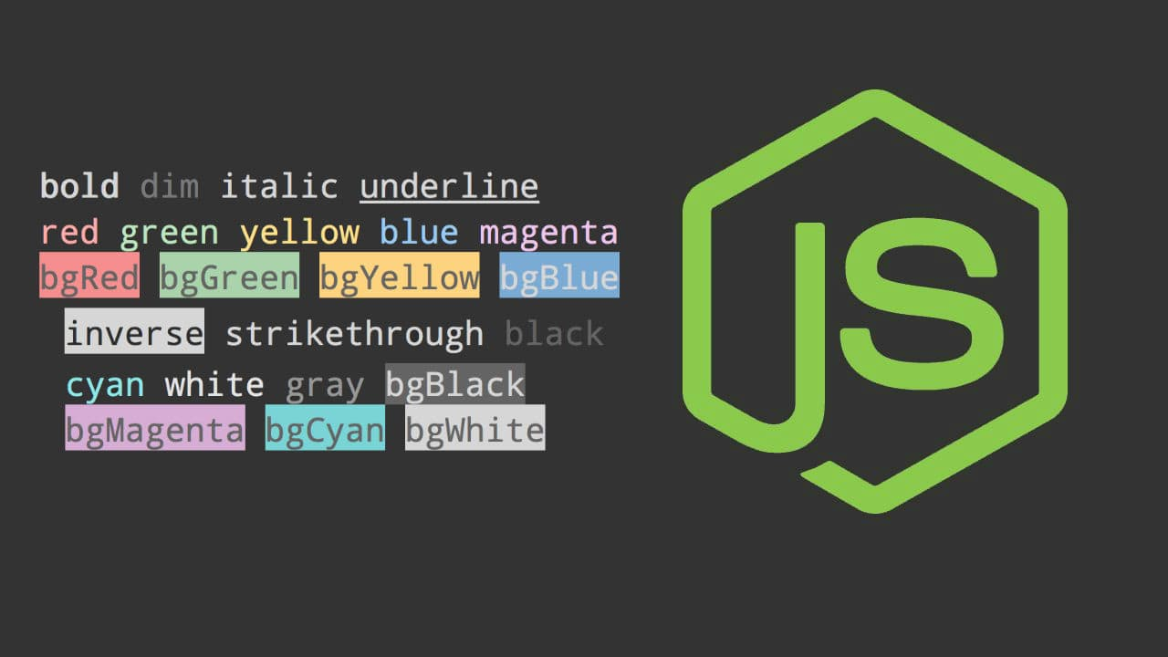 How to show colorful messages in the console in Node.js