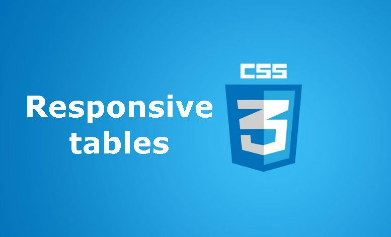 How to create a responsive table with CSS
