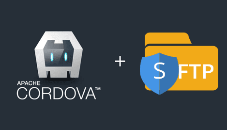 How to create a sftp client with cordova in Android