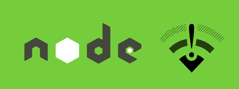 How to check if there is an active internet connection in Node.js