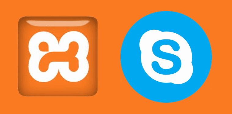 How to solve Xampp Error: Port 80 in use by another application (Skype) when starting Apache