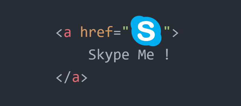 How to create a HTML link that interacts with Skype (call