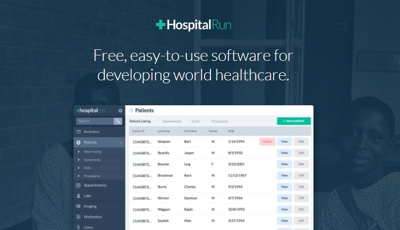 HospitalRun: a free and easy-to-use software for developing