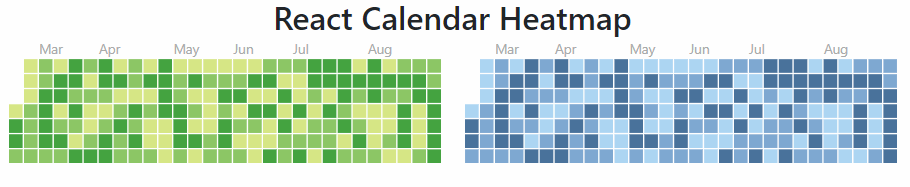 Creating a calendar heatmap chart (Github Contributions Like) in ReactJS