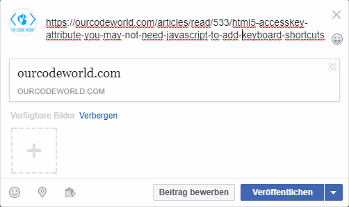 Debugging The Posts You Share on Facebook using the Open Graph Protocol