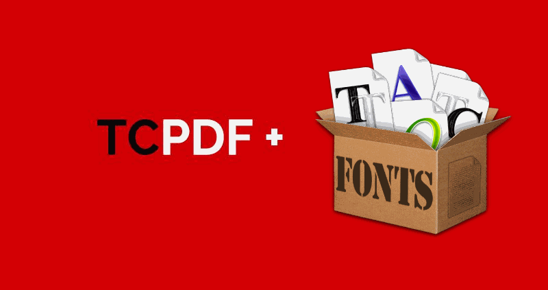 How to implement custom fonts in TCPDF
