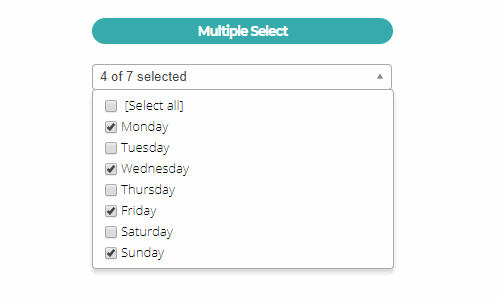 Implementing a filterable multiple select with checkboxes using the