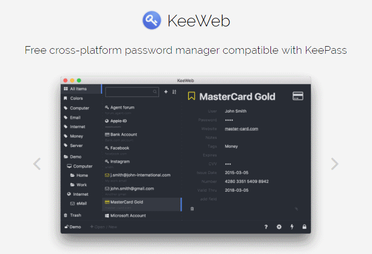Keeweb: A Free cross-platform password manager compatible with KeePass