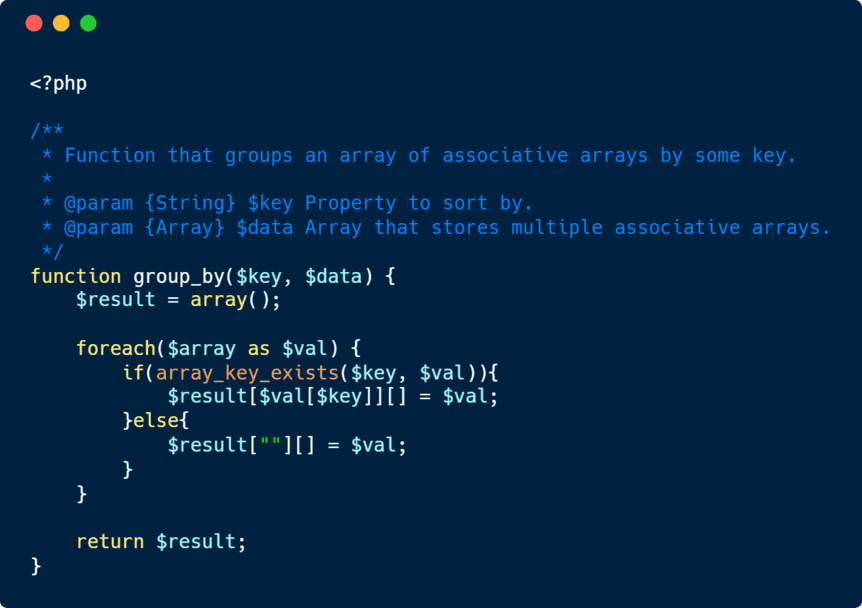 How to group an array of associative arrays by key in PHP