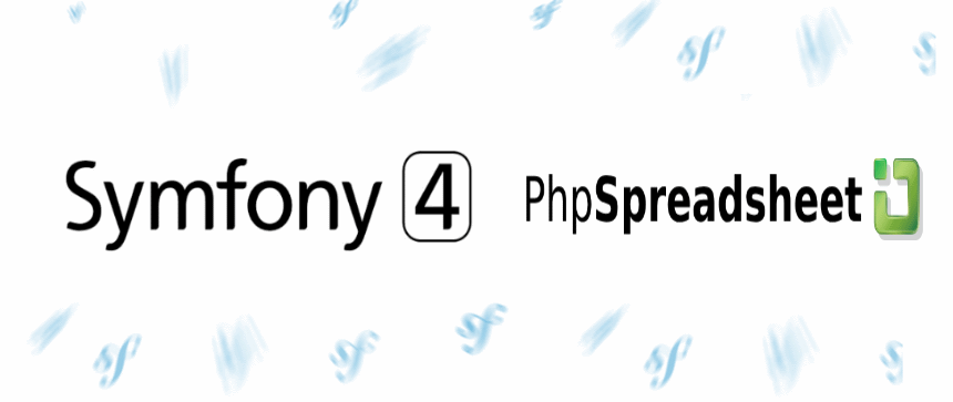 How to create an Excel file with PHP in Symfony 4