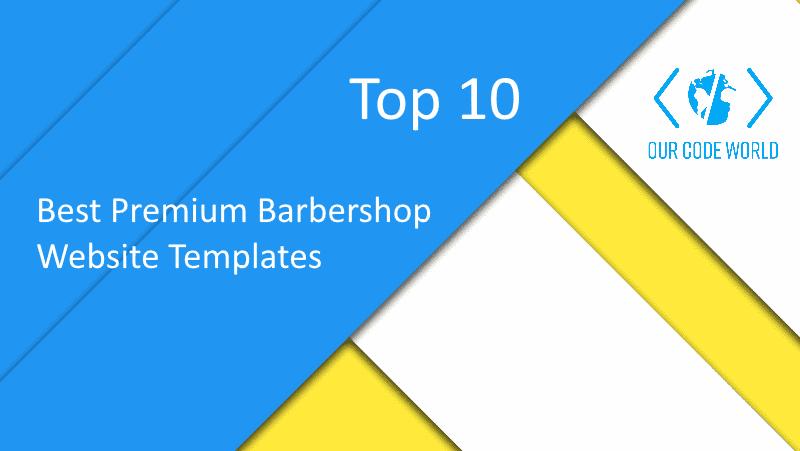 Top 10: Best Premium Barbershop Website Templates