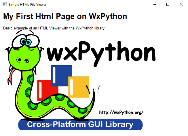 How to create an HTML File Viewer with WxPython