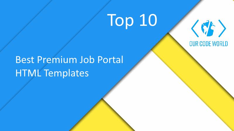 Top 10: Best Premium Job Portal HTML Templates