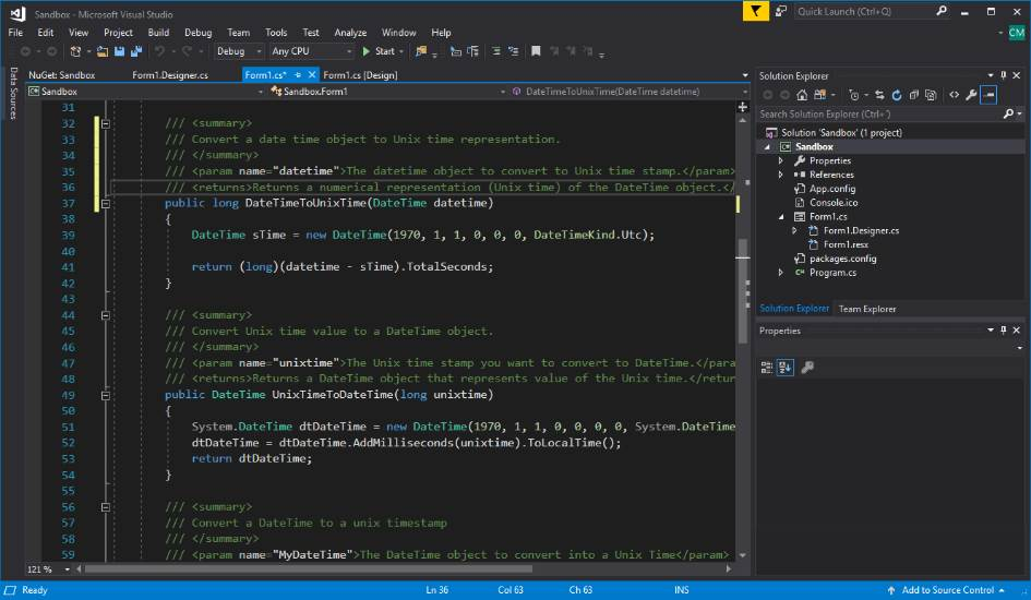 How to change to a dark theme in Visual Studio Community 2017