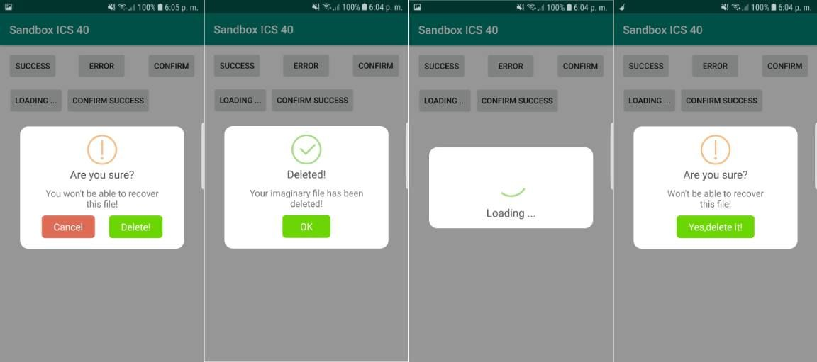 How to use Sweet Alert Dialogs in Android