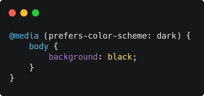 How to detect if the user prefers a light or dark color schema in the browser with JavaScript and CSS