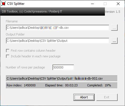 How to split huge CSV datasets into smaller files using CSV Splitter in Windows 10