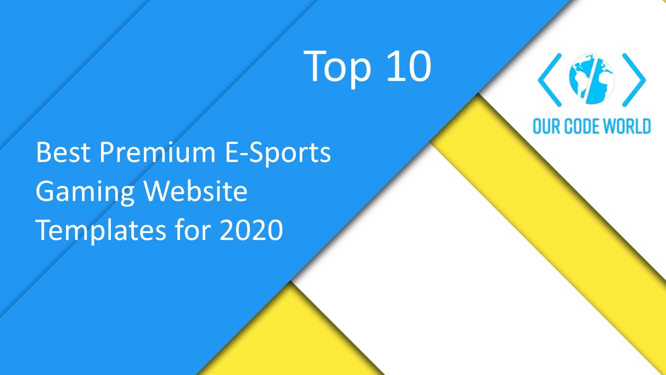 Top 10: Best Premium E-Sports Gaming Website Templates for 2020