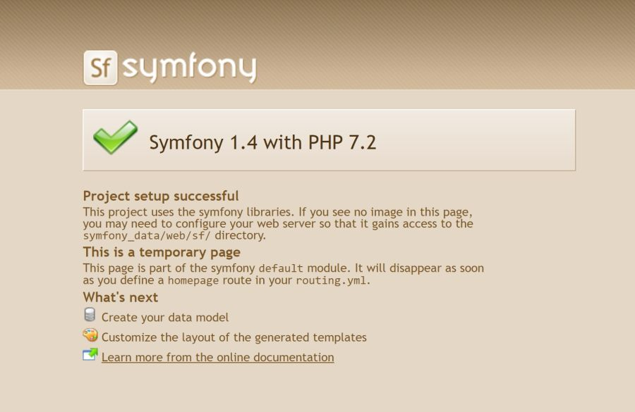 Porting a fully functional legacy Symfony 1.4 application to PHP 7.2