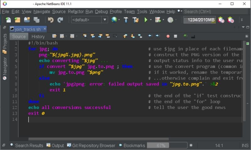 How to enable the syntax highlighting for shell scripts in Apache NetBeans
