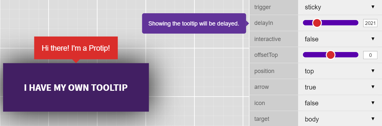Protip tooltip