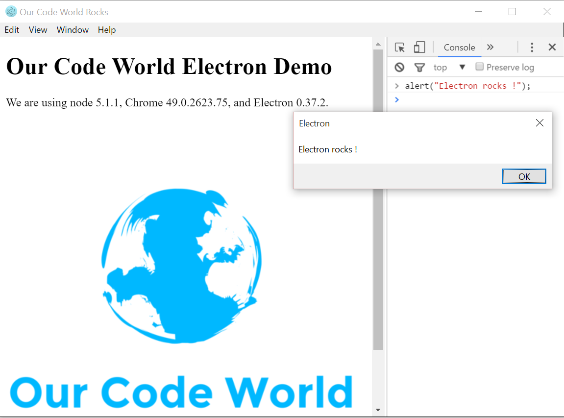 How to create an hybrid app for desktop (html, css and javascript