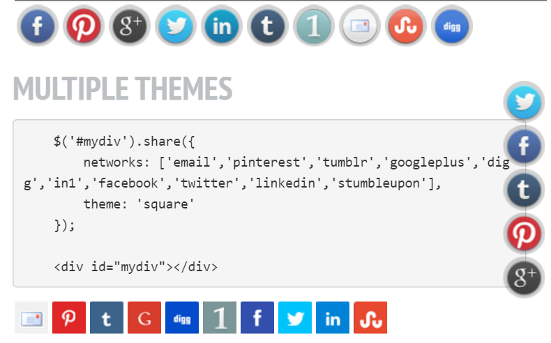 Top 5 : Best jQuery social share plugins | Our Code World