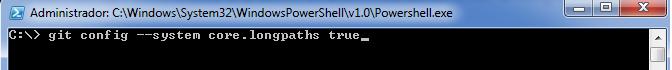 Git config --system core.longpaths true