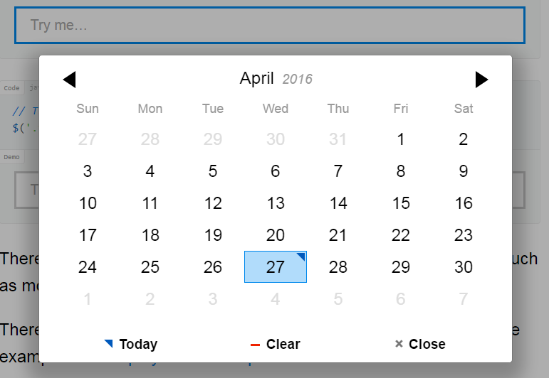 Top 5: Best jquery and javascript datepickers plugins | Our