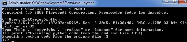 Python cmd.exe