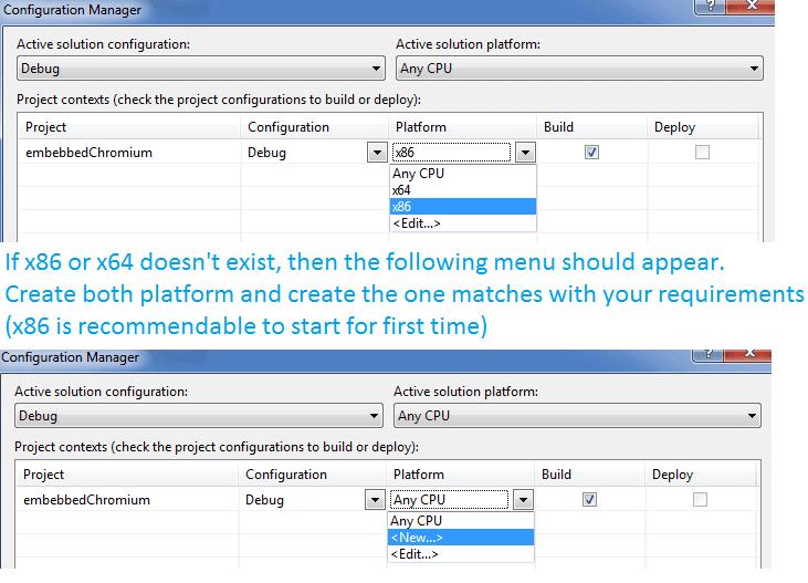 Correct platform cefsharp