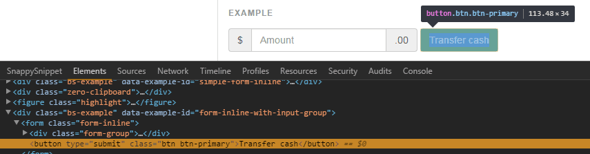 Inspect element chrome console