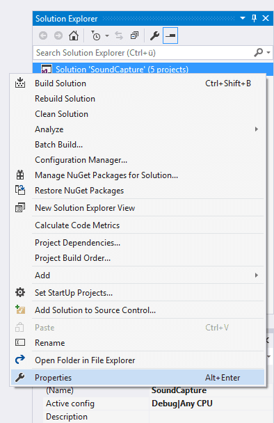 Visual studio output type of class library step 1