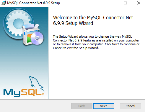 Install on your system mysql connector extension