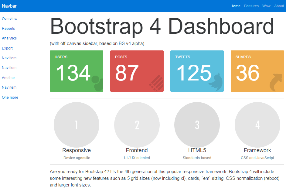 Top 20: Best free bootstrap admin templates | Our Code World