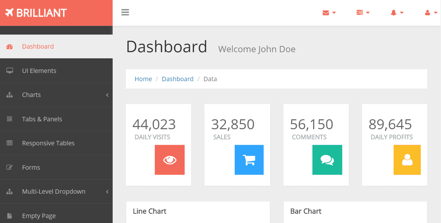 Top 20 Best Free Bootstrap Admin Templates Our Code World