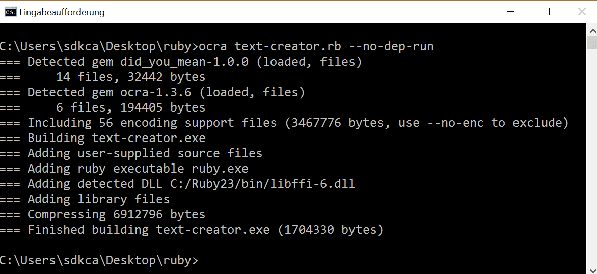 Create executable from a ruby script