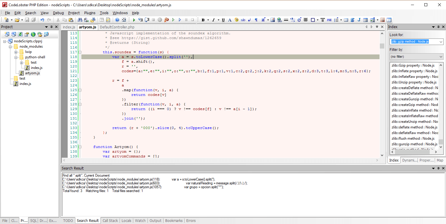 Codelobster ide web development IDE