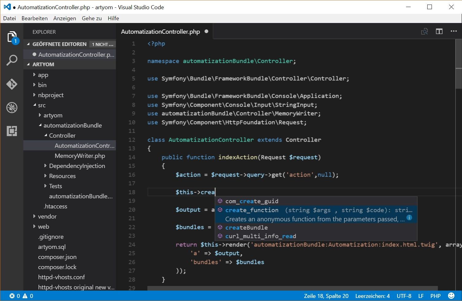 Visual studio code web IDE