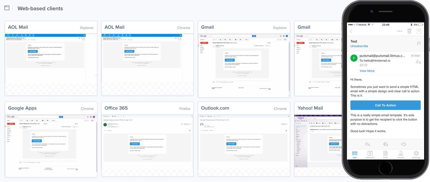 HTML Email Template responsive free