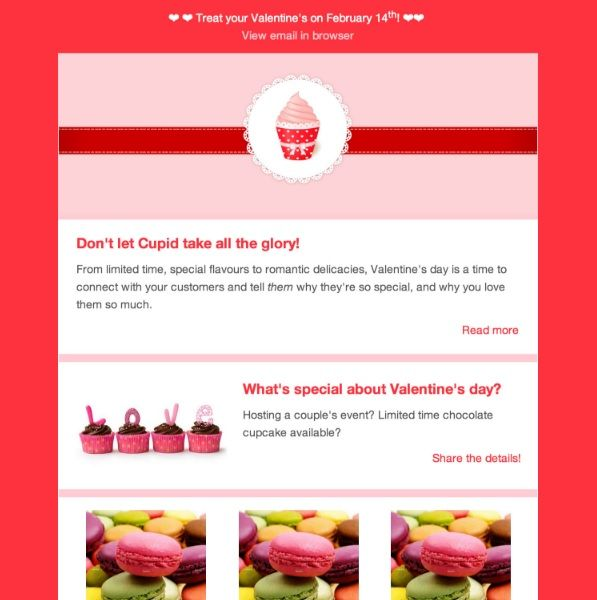 Valentines free email html template