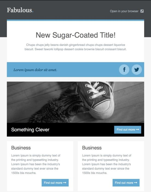 Top 20 best responsive and open source html email and newsletter fabulous html free email template spiritdancerdesigns Images